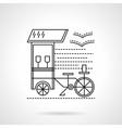 Flat black line coffee shop icon vector image vector image
