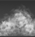 fog or smoke cloud isolated on transparent vector image vector image