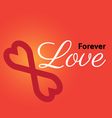 forever love vector image vector image