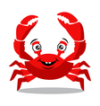 Funny red crab cartoon for food flavor concept vector image vector image
