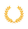 gold laurel wreath heraldic symbol monarchy vector image