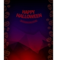 Halloween background horror vector image