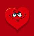 happy heart in love cartoon vector image vector image