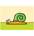 Happy snail cartoon vector image vector image