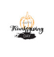 happy thanksgiving day logo autumn traditional vector image vector image