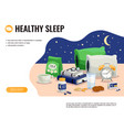 healthy sleep vector image vector image