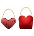 Heart shaped purses vector image vector image