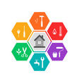 house and work tools concept vector image vector image