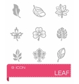 Leaf icon set vector image vector image