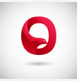 letter o with dove logo concept creative and vector image vector image