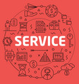 linear service vector image vector image
