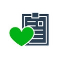love profile donation colored icon clipboard vector image