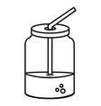 mason jar with beverage vector image vector image