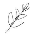 minimalist plant single continuous art leaf vector image vector image
