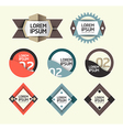 Modern Design Labels vector image