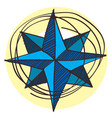 navigator of the compass wind rose icon with a vector image