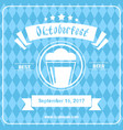 oktoberfest beer festival poster holiday vector image vector image