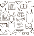 pattern with swimming clothes unisex vector image