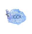 Percent Health Beauty Promo Sign vector image vector image