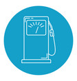 petrol filling station icon in thin line style vector image