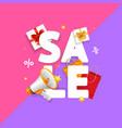 sale concept card seasonal discounts vector image vector image