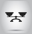 scale weigher icon weigher balance sign business vector image vector image
