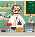Scientist In Chemistry Lab vector image vector image