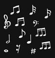 set hand drawn music note doodle doodle vector image vector image