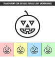 simple outline transparent jack-o39-lantern vector image