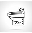 Simple washstand black line design icon vector image vector image