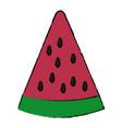 sliced watermelon fruit vector image