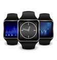 Smart watch with Interface in several color vector image