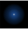 Star shining Dark blue vector image vector image