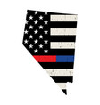 state nevada police and firefighter support vector image vector image