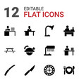 table icons vector image vector image