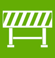 traffic barrier icon green vector image vector image