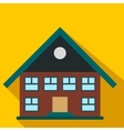 Two-storey house flat icon vector image vector image