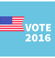 Voting concept President election day 2016 vector image vector image