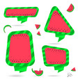 watermelon summer bubble speech vector image vector image