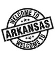 welcome to arkansas black stamp vector image vector image
