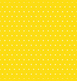 white polka dots on yellow background vector image vector image