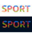 word sport vector image
