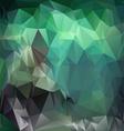 emerald green polygonal triangular pattern vector image