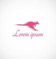 kangaroo logo vector image