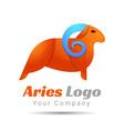 Aries Volume Logo Colorful 3d Design Corporate vector image