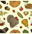 happy thanksgiving set pattern vector image