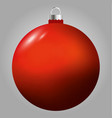red christmas ball isolated on grey background vector image