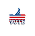 2020 vote in usa american president banner vector image vector image