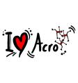 Acro love symbol vector image vector image