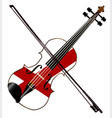 alabama state fiddle vector image vector image